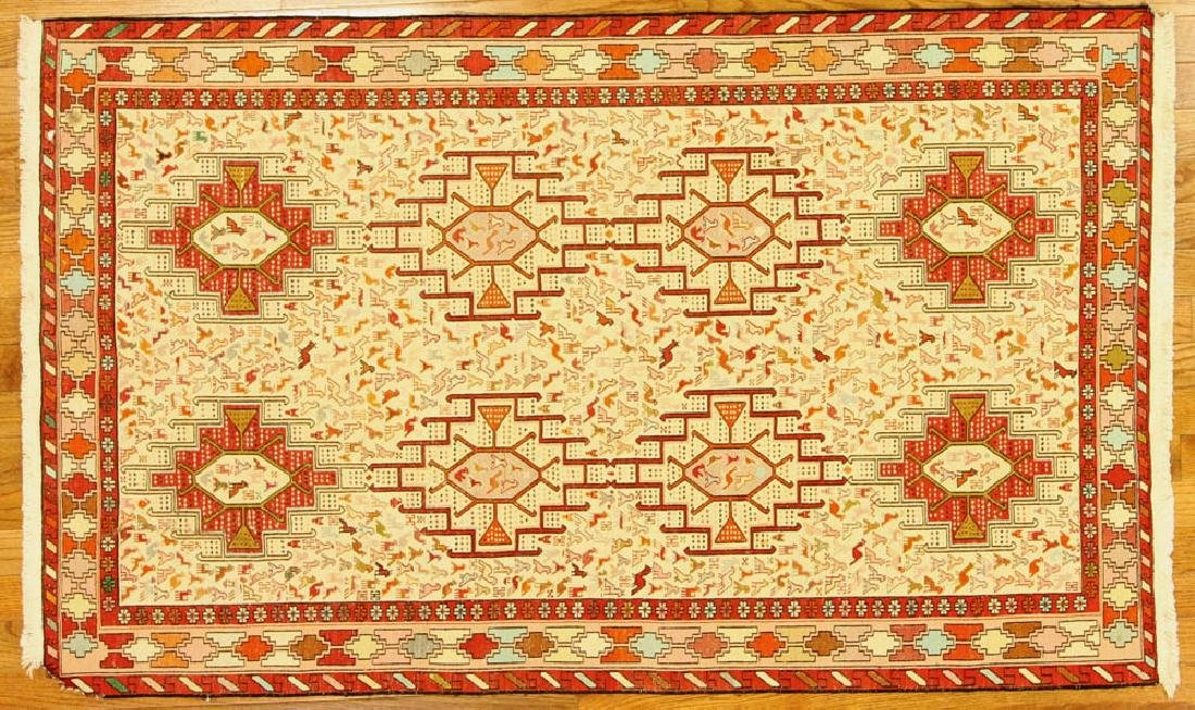 Turkish Soumak Kilim Rug