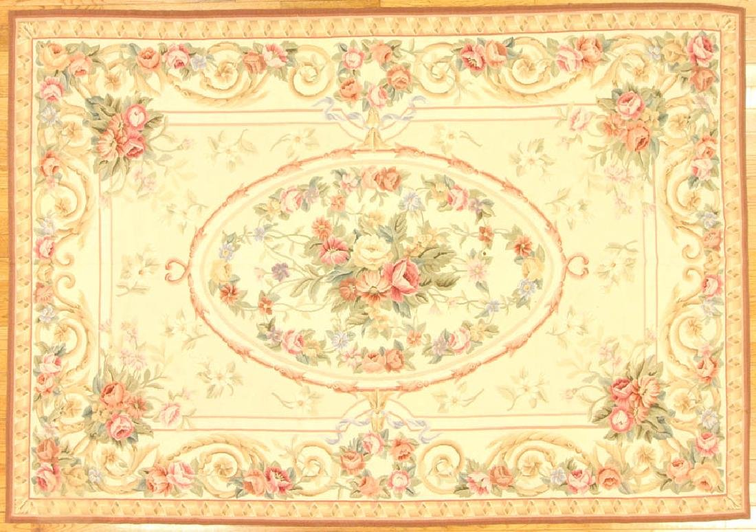 French Aubusson Savonnerie Needlepoint Rug
