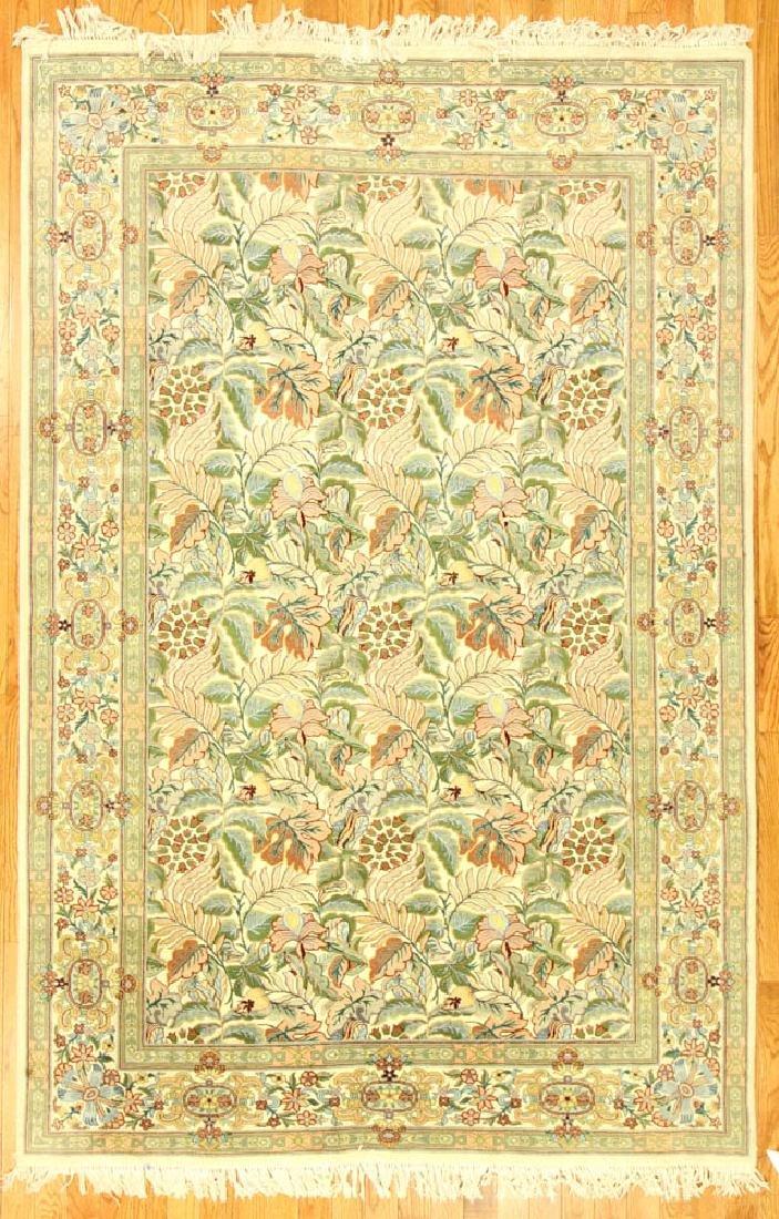 Unusual Indo-Tabriz Garden Rug