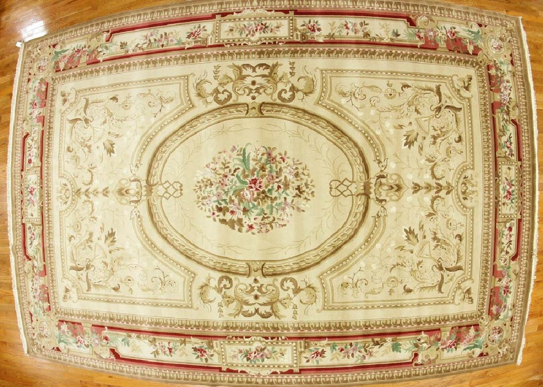 Fine Sino Aubusson Mansion Palace Size Rug