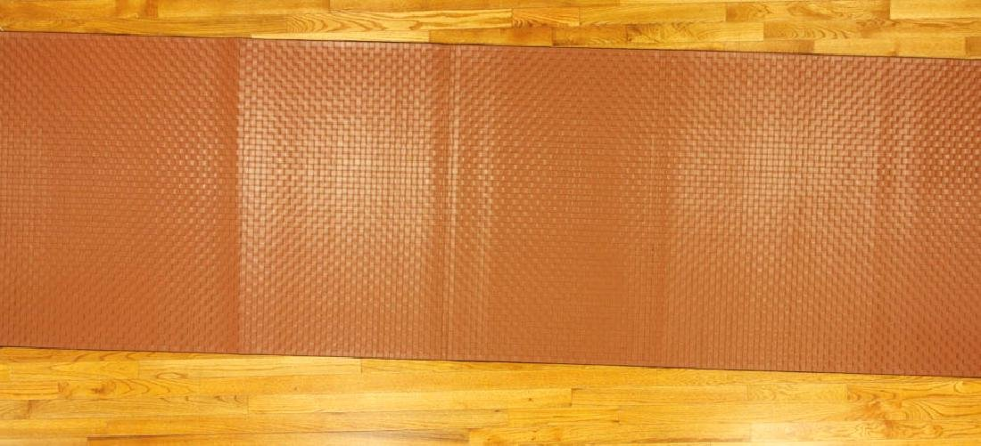 Designer Leather Woven Runner