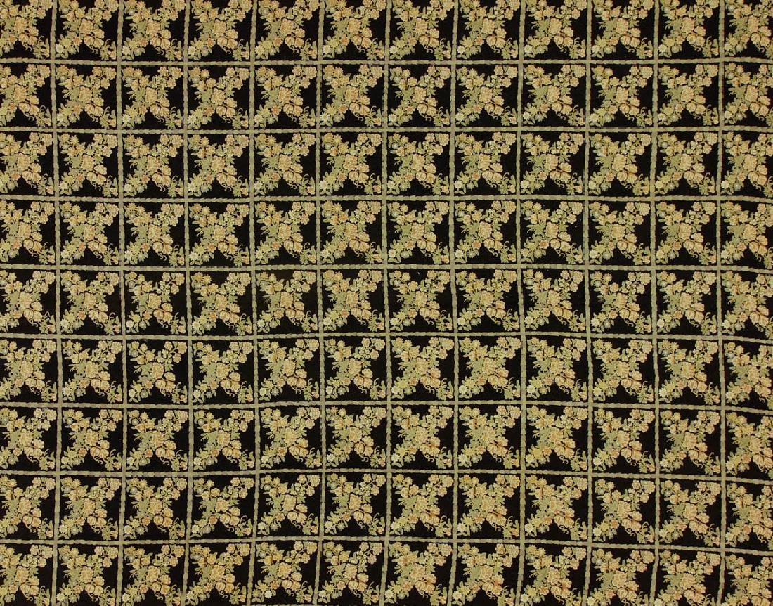 Crewel Work Rug with Floral Box Design - 2