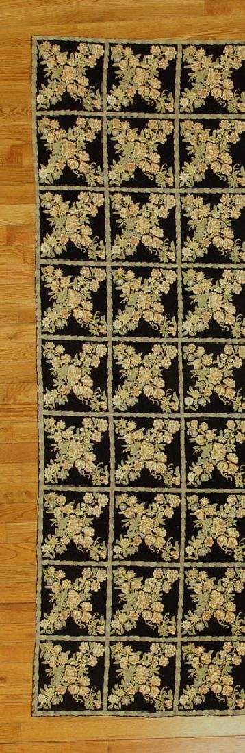 Crewel Work Rug with Floral Box Design - 3