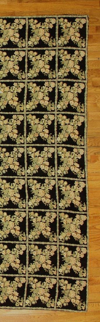 Crewel Work Rug with Floral Box Design - 4