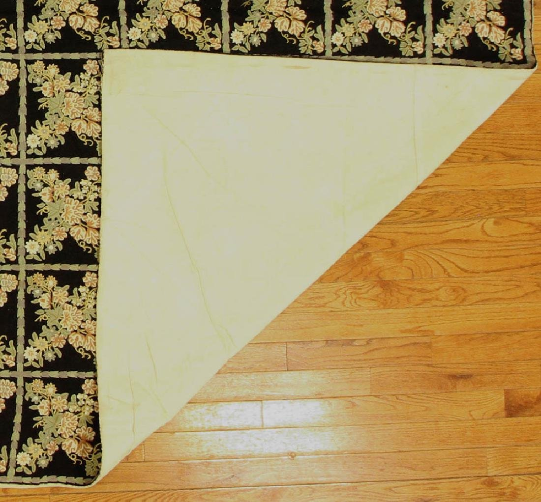 Crewel Work Rug with Floral Box Design - 5