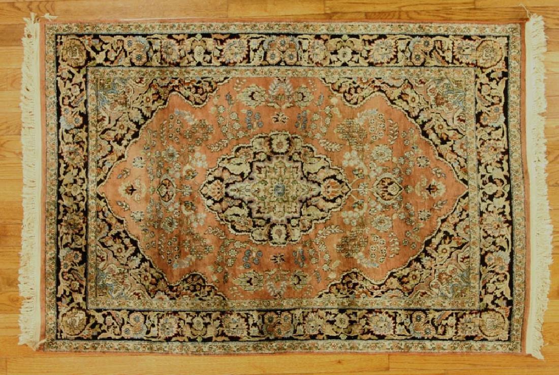 Fine Sino Silk Tabriz-style Rug