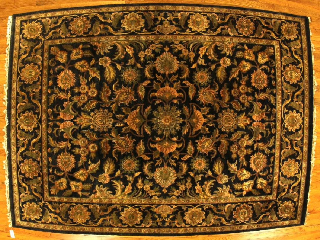 Fine Indo-Sarouk-style Floral Rug