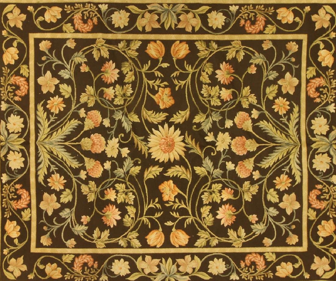 Fine French Needlepoint Floral Rug - 2