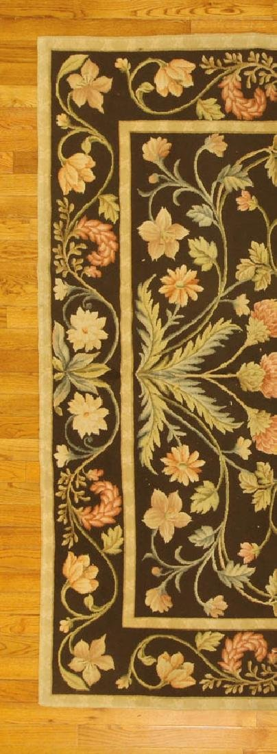 Fine French Needlepoint Floral Rug - 3