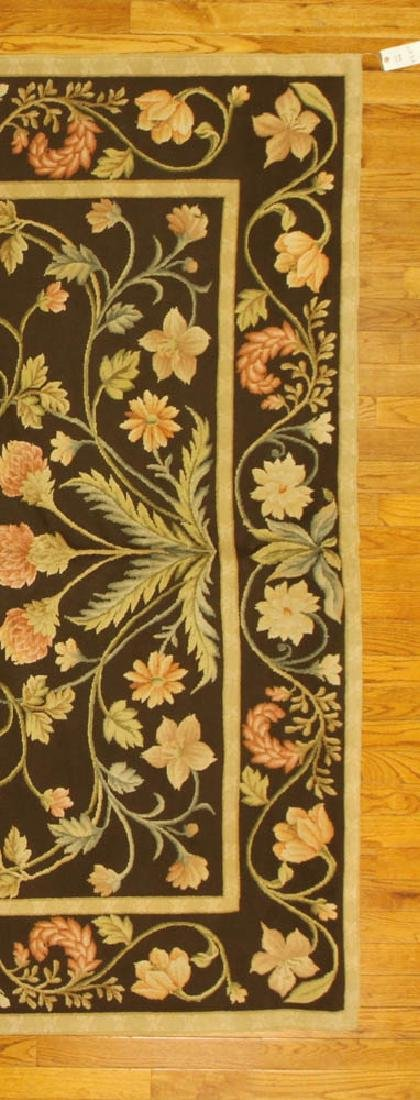 Fine French Needlepoint Floral Rug - 4