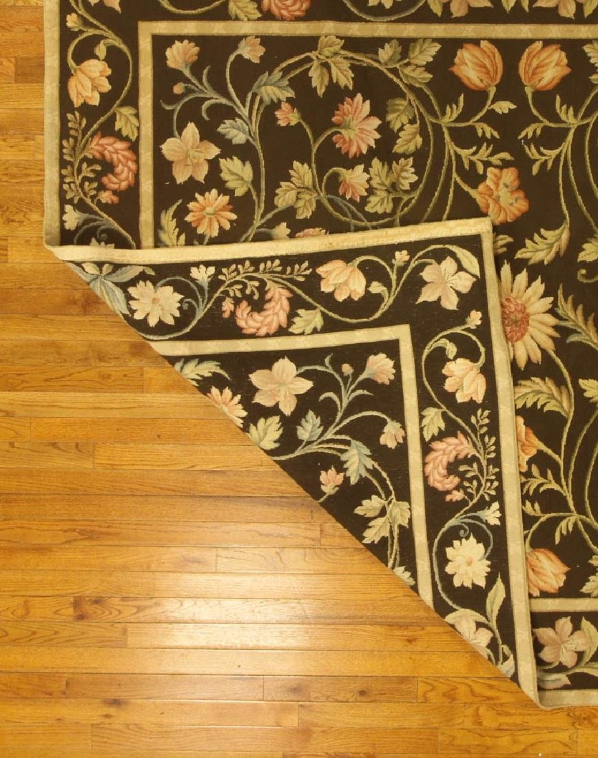 Fine French Needlepoint Floral Rug - 5