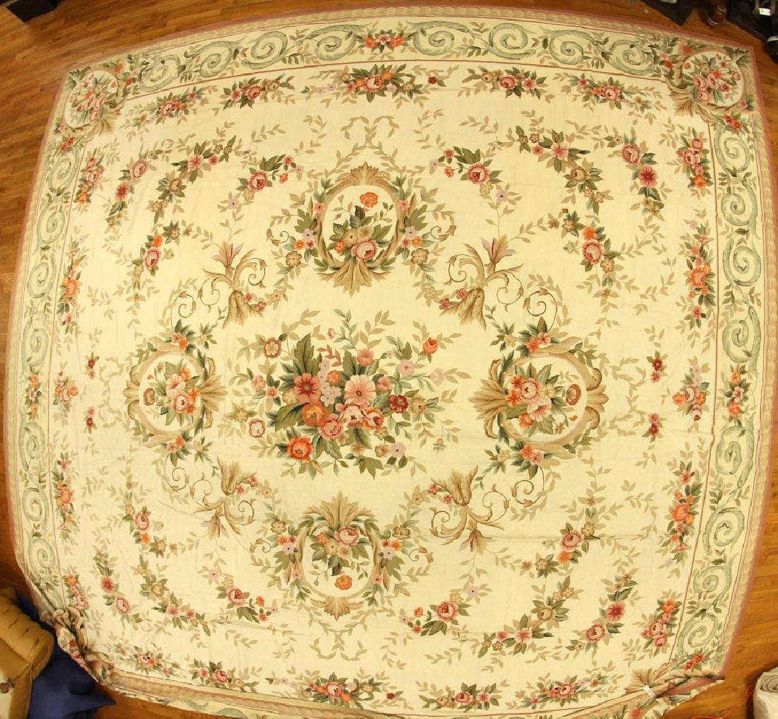 Fine French Provincial-style Needlepoint Rug