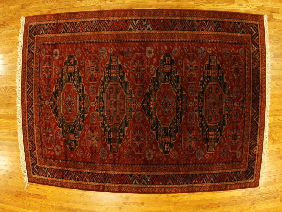 Caucasian-style Tribal Machine Made Rug
