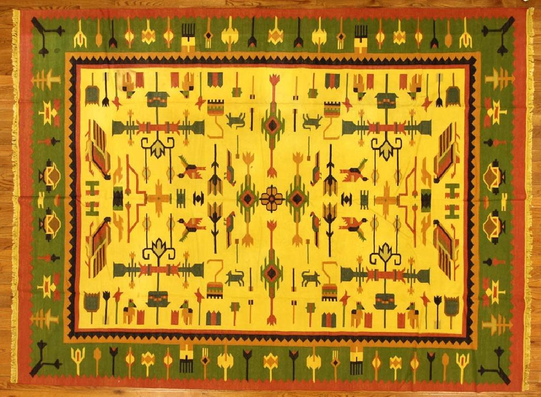 Folk Art Kilim Rug
