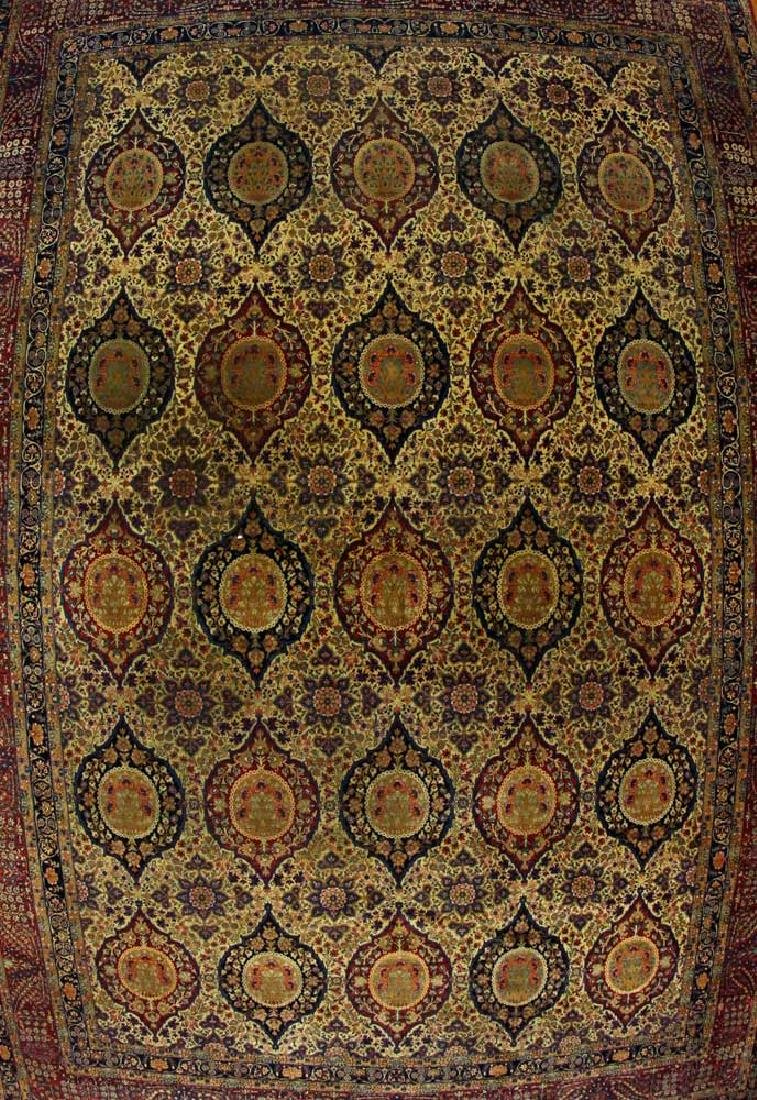 Antique Lavar Kerman Rug - 2