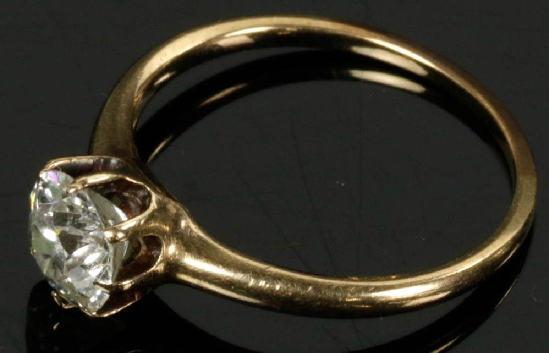 14k Gold Diamond Ring - 4