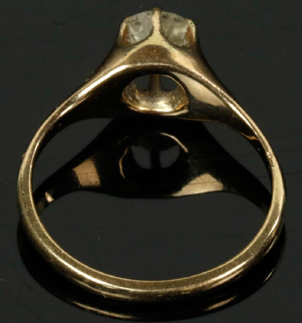 14k Gold Diamond Ring - 5