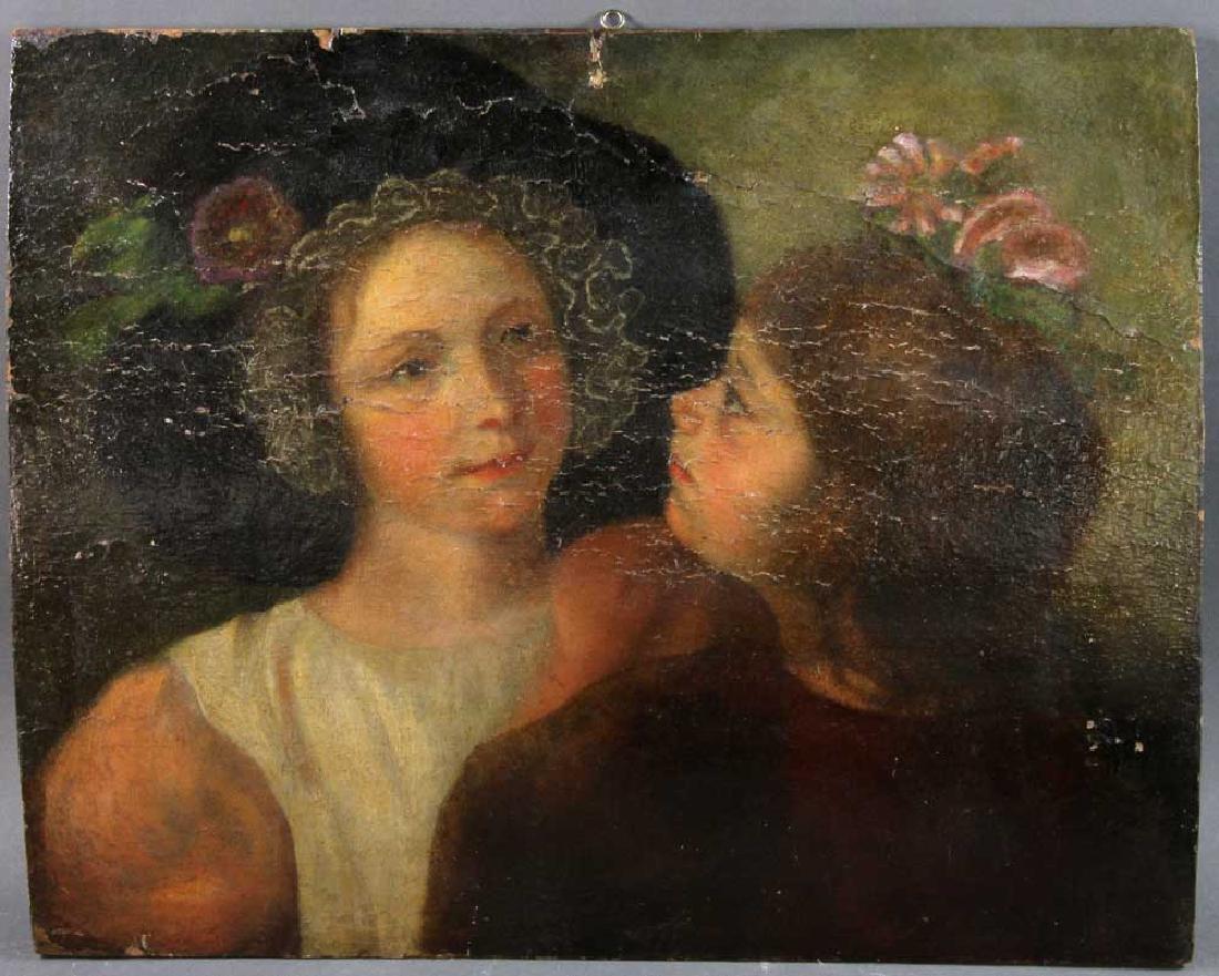 Italian School Portrait of Two Girls