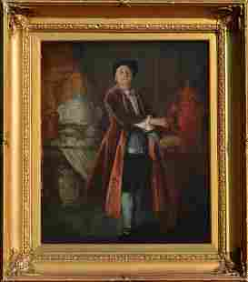 British School Portrait of a Collector