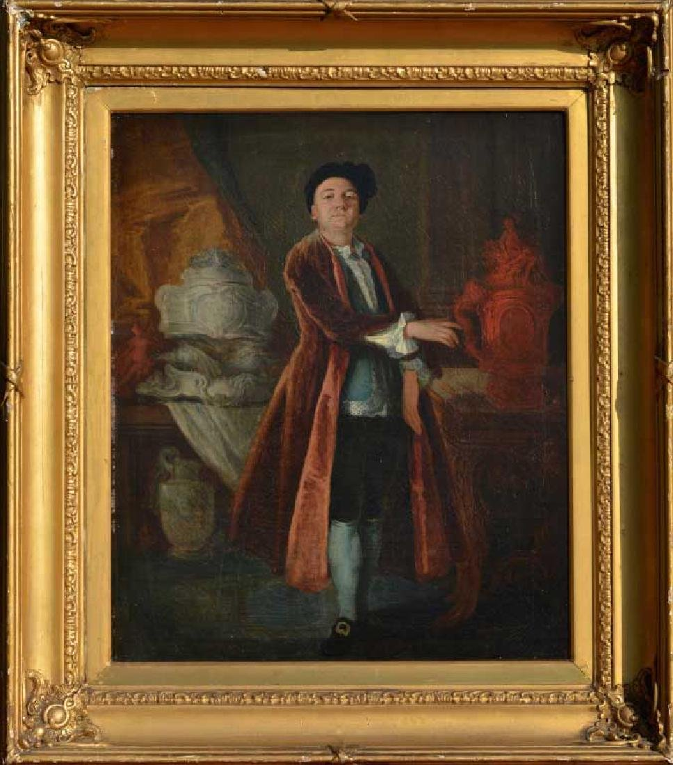 British School Portrait of a Collector