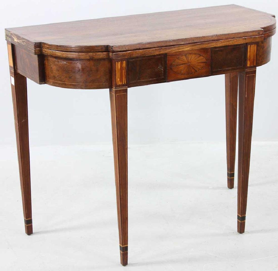 C1800 Federal Inlaid Mahogany Card Table