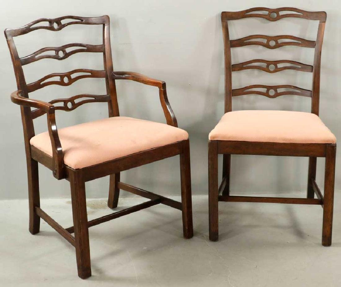 (12) Early 20th C. Chippendale-style Chairs - 2