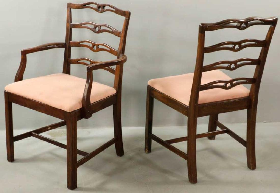 (12) Early 20th C. Chippendale-style Chairs - 3