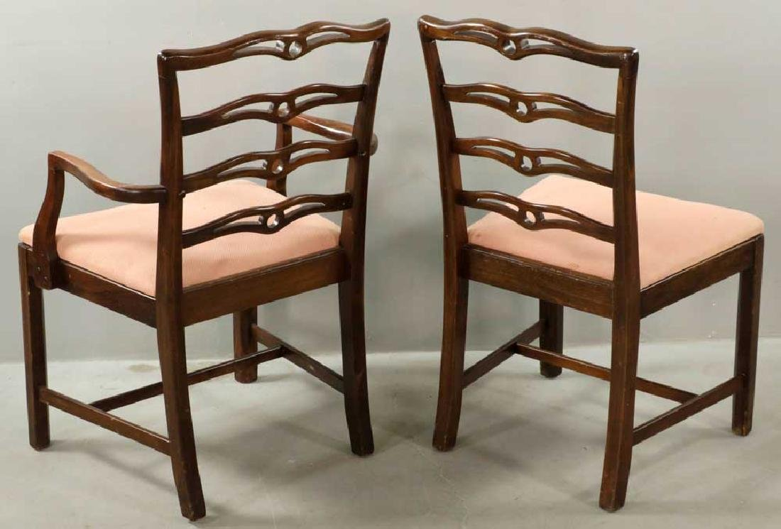 (12) Early 20th C. Chippendale-style Chairs - 4