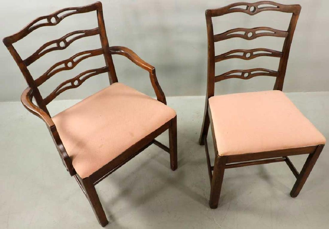 (12) Early 20th C. Chippendale-style Chairs - 7