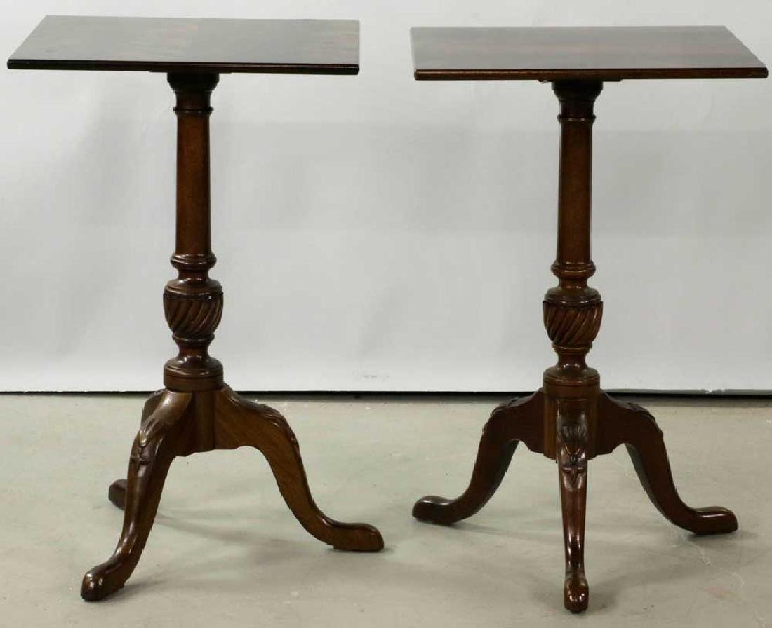 Pair of Queen Anne-style Brandy Tables