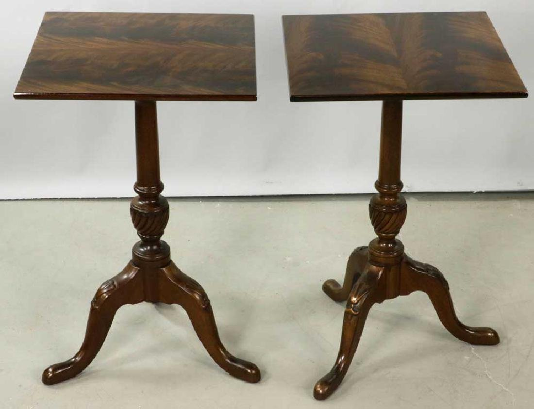 Pair of Queen Anne-style Brandy Tables - 2