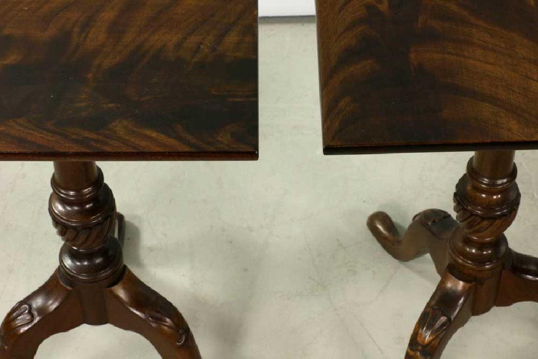 Pair of Queen Anne-style Brandy Tables - 5