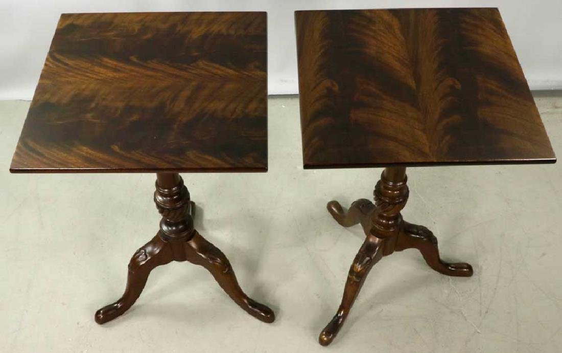Pair of Queen Anne-style Brandy Tables - 6