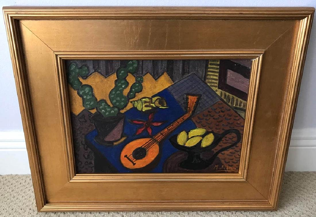 Jan Matulka Signed, Cubist Still Life, Oil on Board
