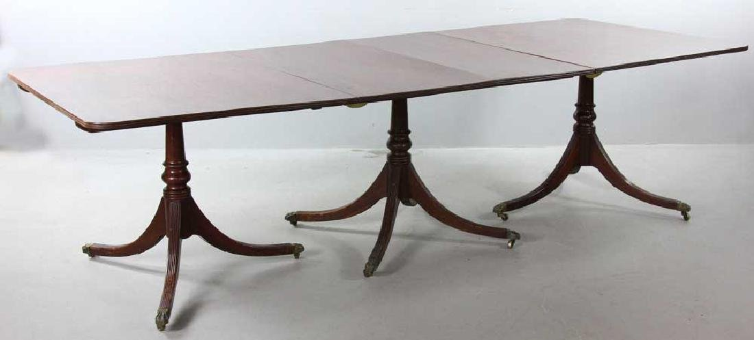 19/20th C. Federal Mahogany Banquet Table