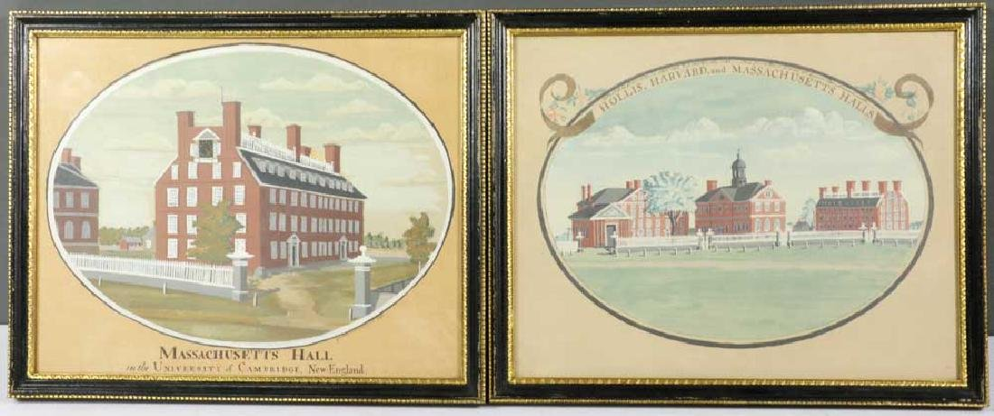 Two Watercolors of Harvard University
