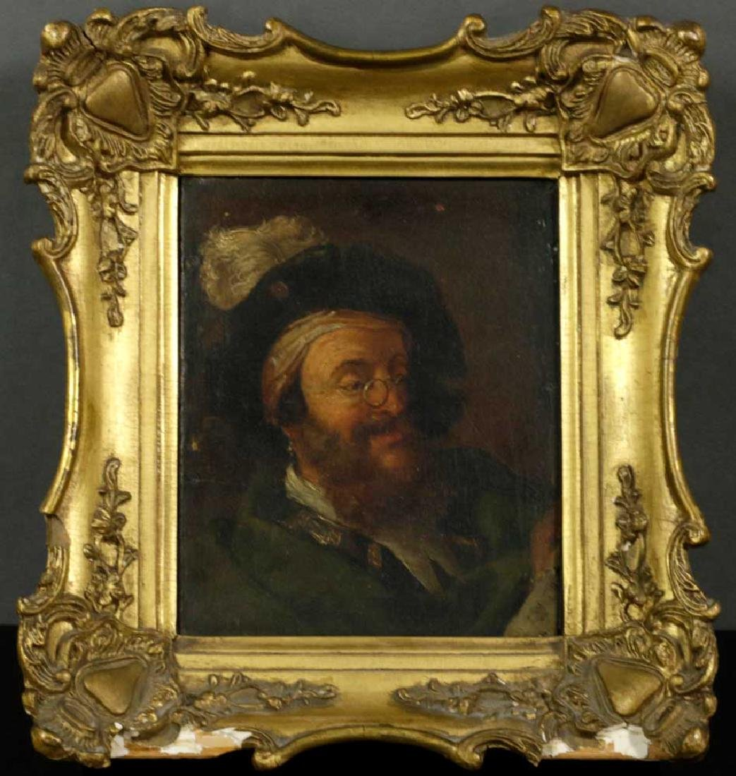 17th C. Italian School Portrait of Bearded Man