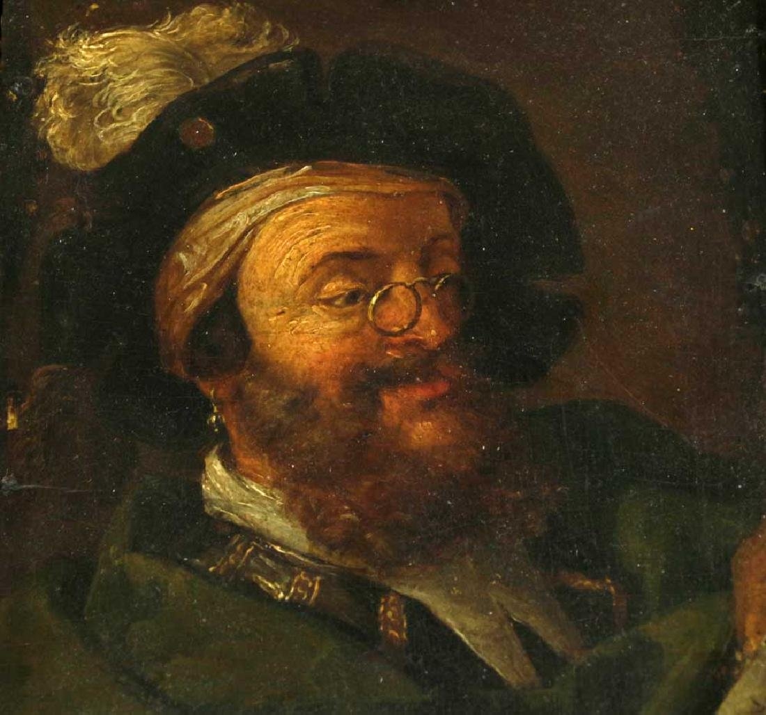 17th C. Italian School Portrait of Bearded Man - 2