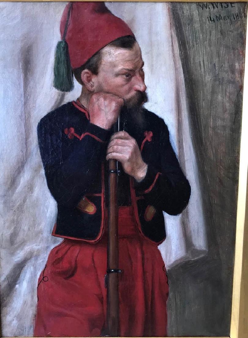 William Wise, Turkish Solider, Oil on Canvas - 2