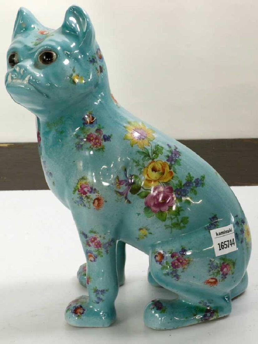English Glazed Porcelain Dog