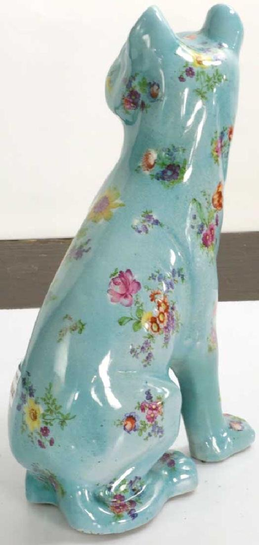 English Glazed Porcelain Dog - 2