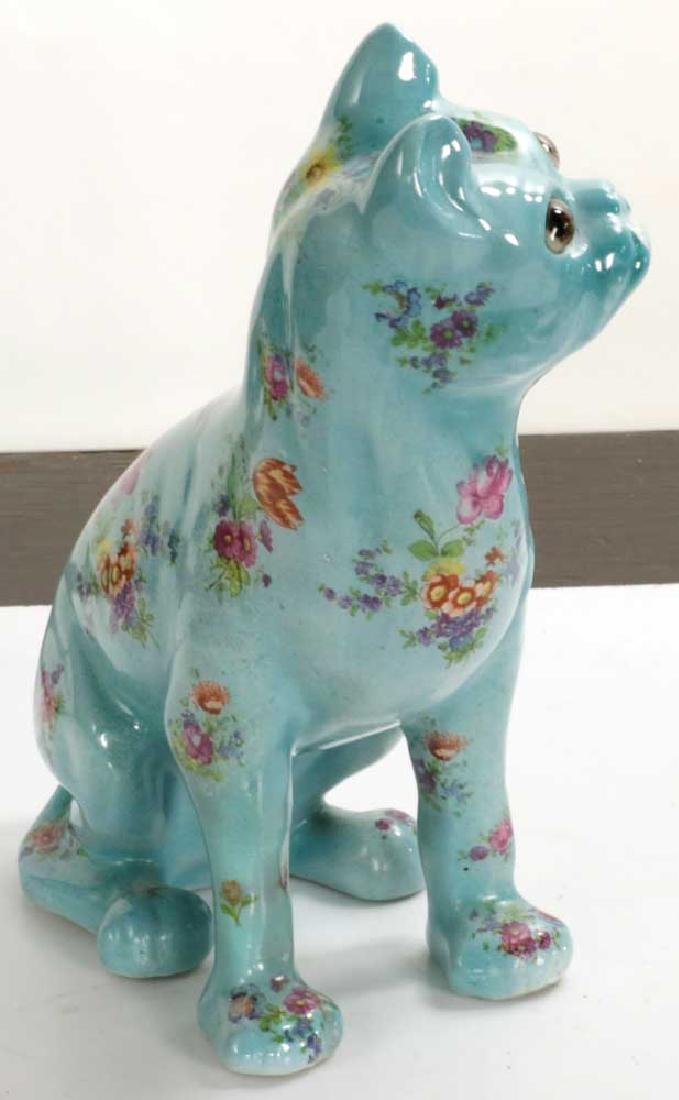 English Glazed Porcelain Dog - 3