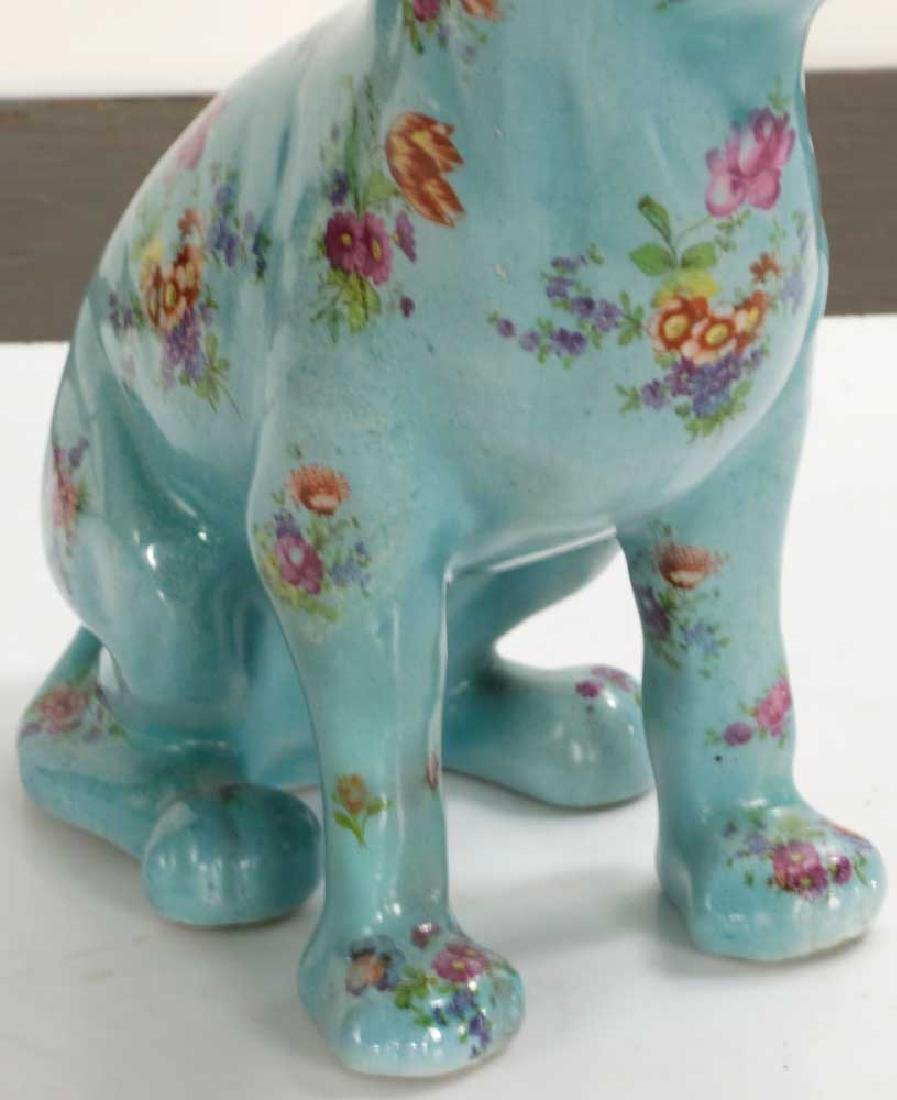 English Glazed Porcelain Dog - 4