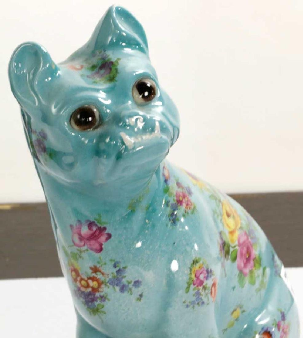 English Glazed Porcelain Dog - 5