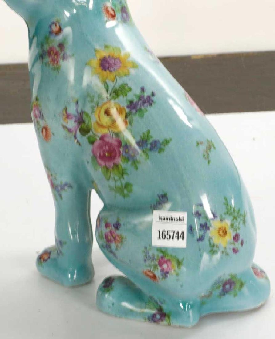 English Glazed Porcelain Dog - 6
