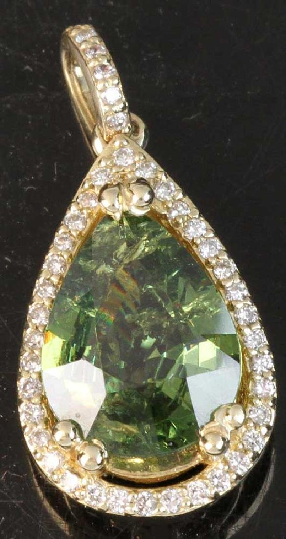 Ladies Demantoid Pendant, 14k Gold