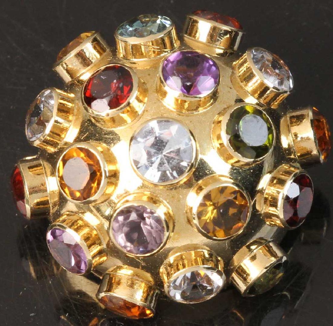 Ladies 18k Gold Cosmic Pendant/Pin