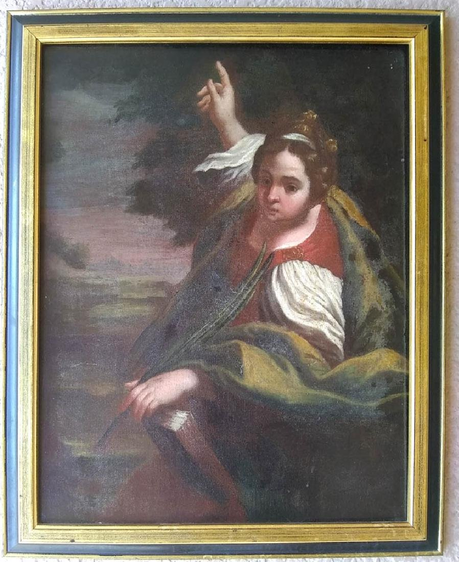 18th C. Italian Portrait of Young Girl