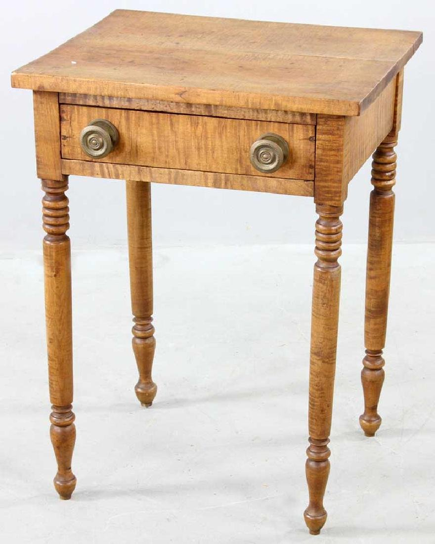 Early 19th C. Federal Tiger Maple Stand