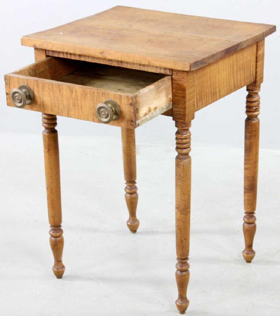 Early 19th C. Federal Tiger Maple Stand - 2